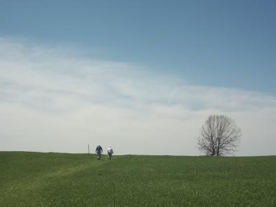 Parents on the prairie. Nachusa Grasslands, Illinois.