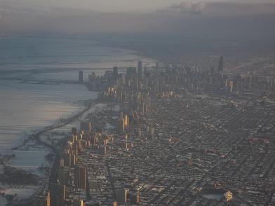 Chicago in winter.