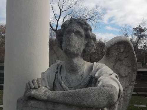 Kimball's silenced angel. Graceland Cemetery, Chicago.