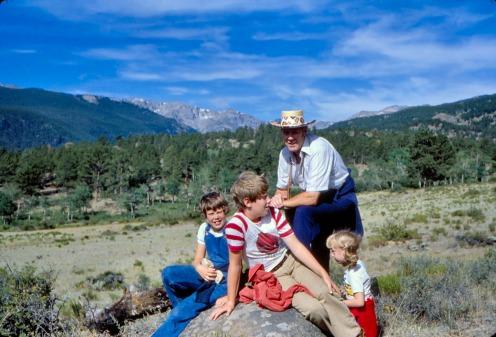 Pigtails in Estes Park, Colorado.