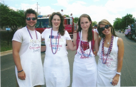 Fourth of July parade. Bakery friends.
