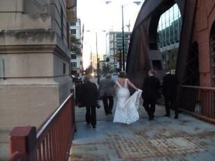 Chicago wedding, Clark Street Bridge.