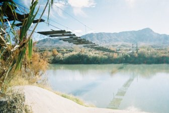 Truth or Consequences. Bridge over the Rio Grande.