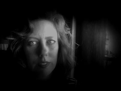 Film noir face.