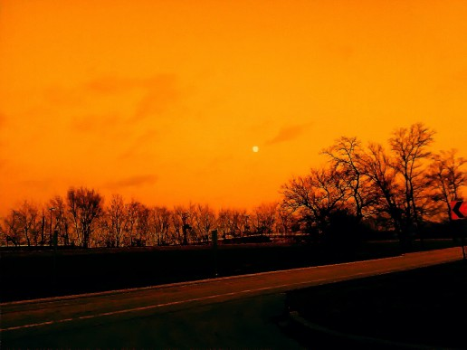 Orange crush moon.